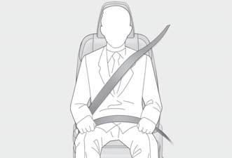 Lexus NX. Seat belt instructions for Canadian owners (in French)